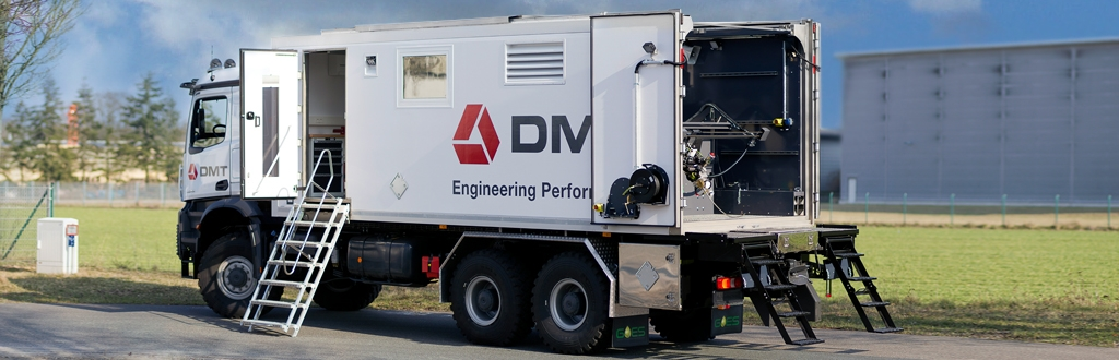 Logging truck manufactured by GOES for DMT